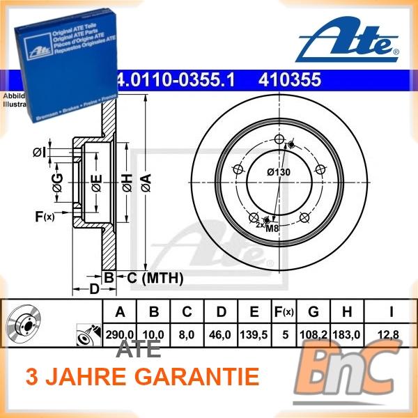 TEXTAR 92237300 Bremsscheibe Set of 2