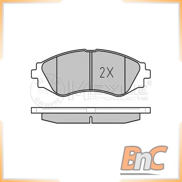 Vorderachse Scheibenbremse Chevrolet Daewoo BB08156 Bremsbelagsatz