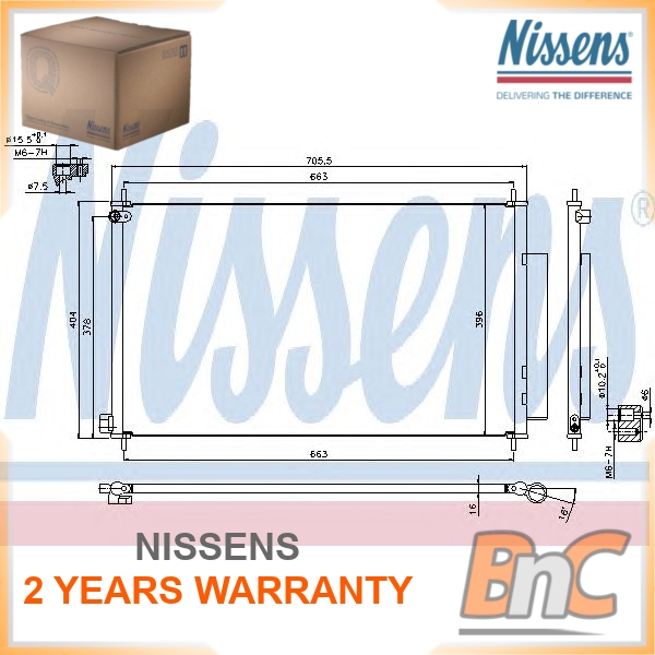 aire acondicionado 940093 para AUDI SEAT SKODA VW Nissens condensador